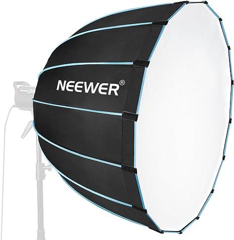 Neewer Hexadecagon Softbox de 90 Centímetros con Borde Azul y Montaje Bowens Difusor de Caja de Luz Portátil y Plegable Rápido Para Fotografía Speedlites Flash Monolight y Más: Amazon.es: Electrónica