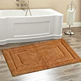 "Chardin Home Classic Bath Rug, Large 27""X45"" Tan, 100% Pure Cotton, Super Soft, Plush & Absorbent with Latex Spray Non-skid Backing"