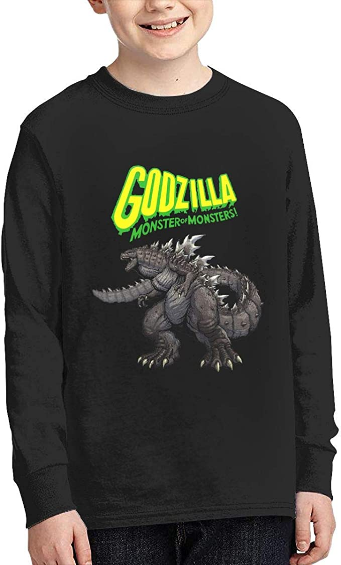 Kid/'s Boys/' And Girls/' Godzilla O-neck Cotton Tee Shirt