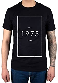 3190228dc14 Official T Shirt THE 1975 Rock Band Original LOGO Black XL: Amazon ...