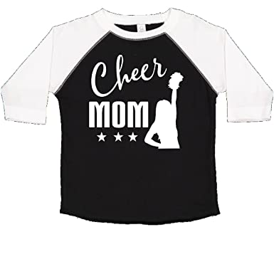 f08e7d336501 inktastic - Cheer Mom Gift Cheerleading Toddler T-Shirt 2T Black and White  2b255