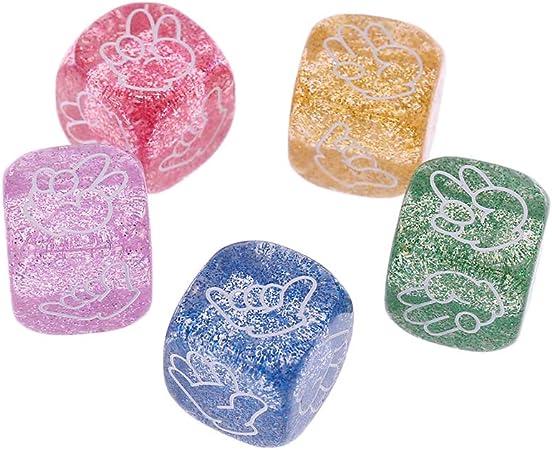 Kuvuiuee - Juego de 5 piezas para juegos de mesa con forma de cubo, 6 caras, 20 mm: Amazon.es: Hogar