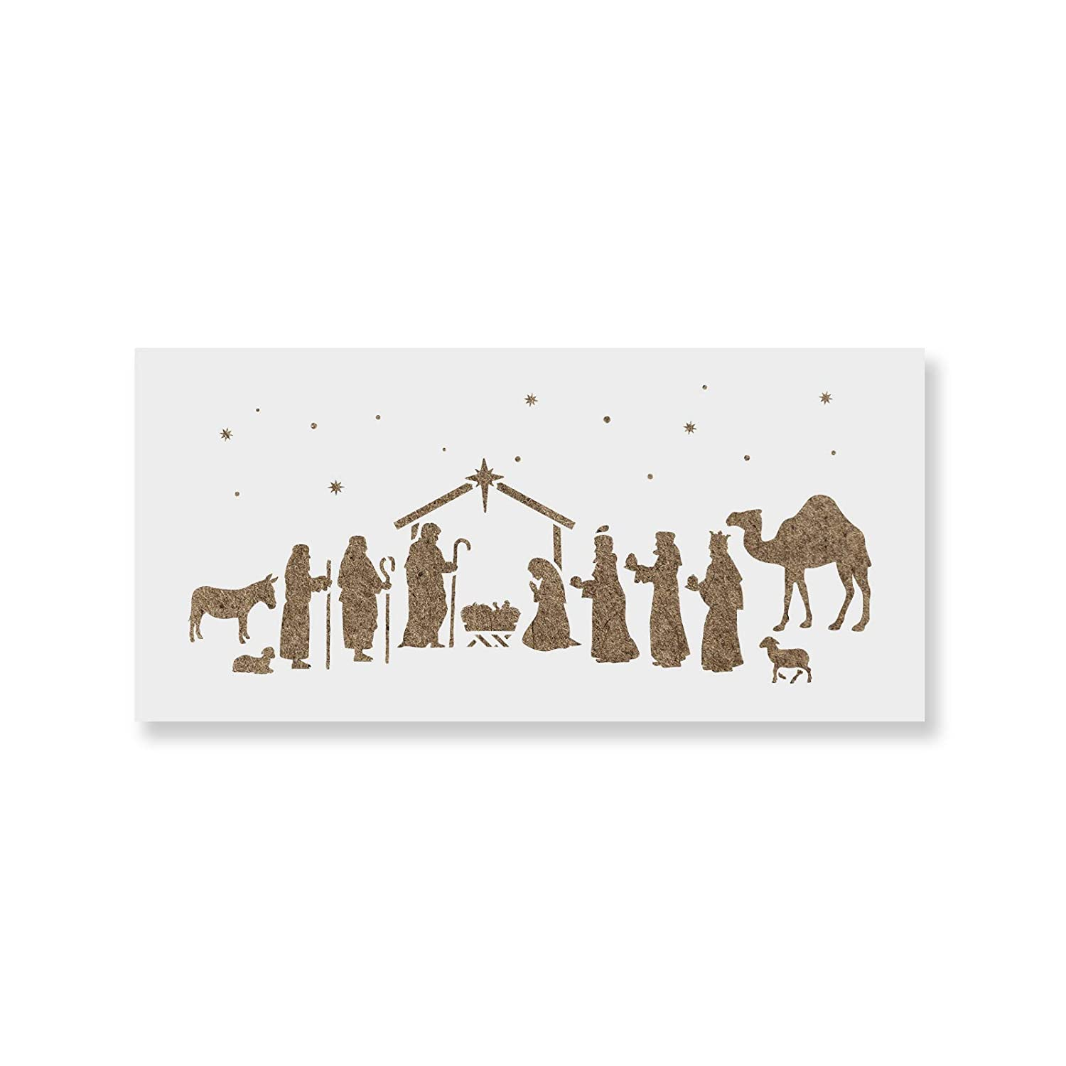 Nativity Stencil Template for Walls and Crafts - Reusable Stencils for Painting in Small & Large Sizes Stencil Revolution