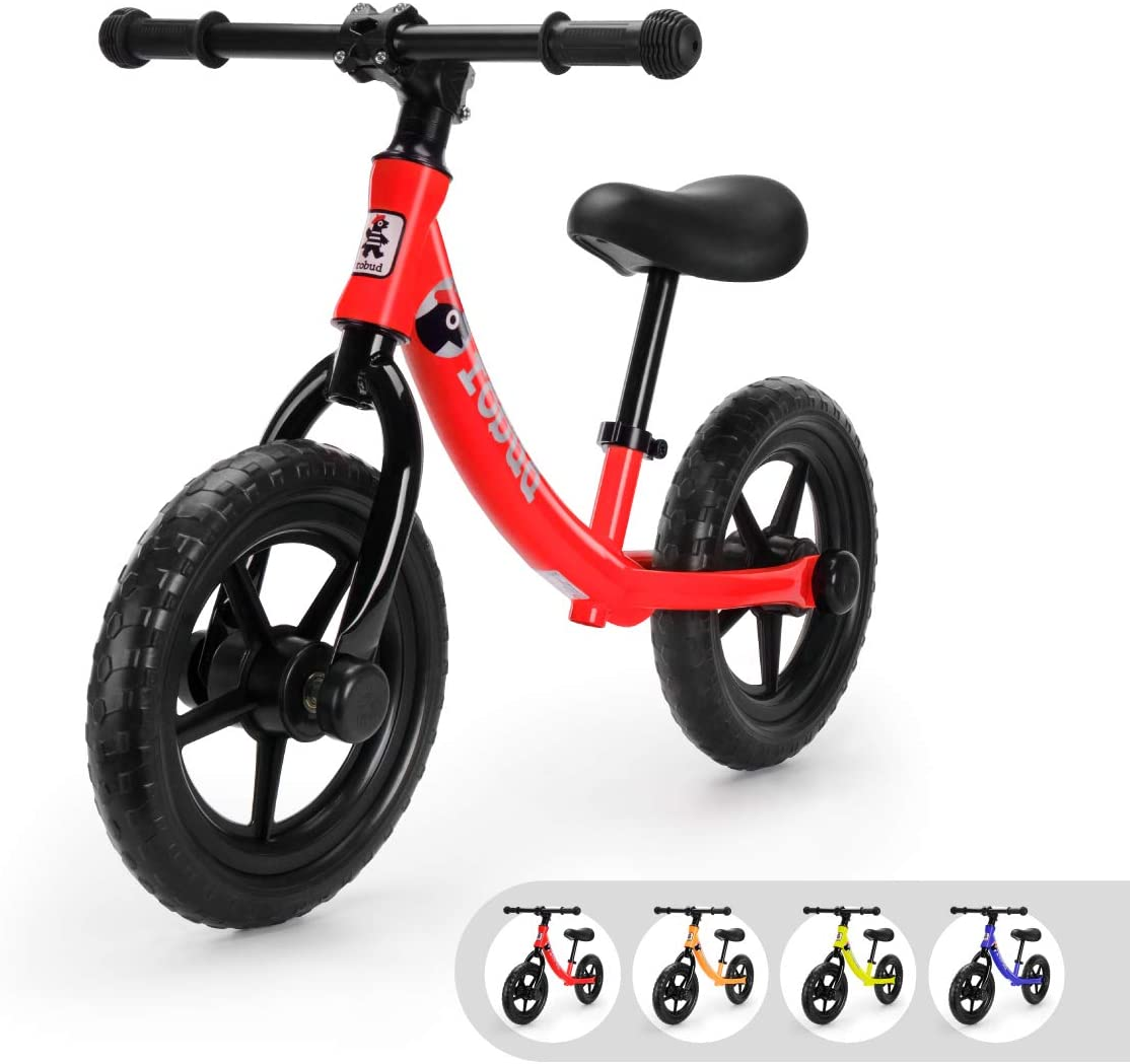 ROBUD Balance Bike for Kids & Toddlers, Gift for Children Ages 2 3 4 5 6 Years Old - Red: Sports & Outdoors