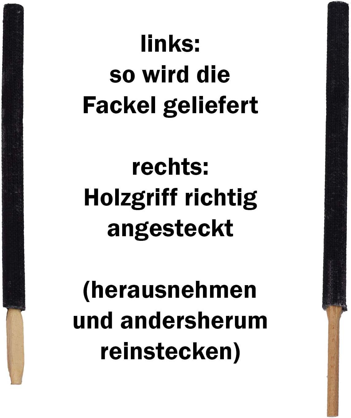 Krause /& Sohn Wachsfackeln 45 min Brennzeit kleine Fackeln Wachstuchfackel 10 St/ück