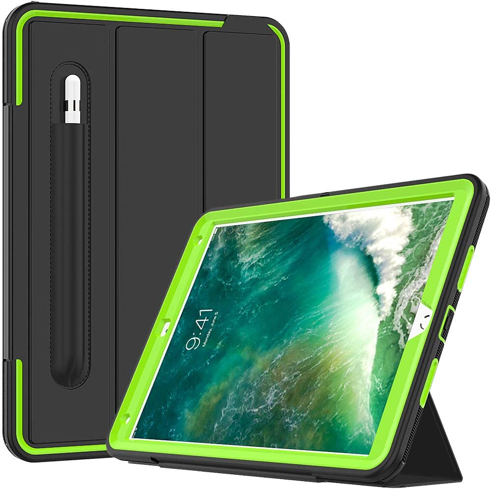 "Cantis iPad Air 3 Case,iPad Air 10.5 Case,iPad Pro 10.5 Case 2017,Slim Heavy Duty Shockproof Rugged Full Body Protective Case with Auto Wake/Sleep for iPad Air 3rd Generation 10.5"" 2019 (Green)"