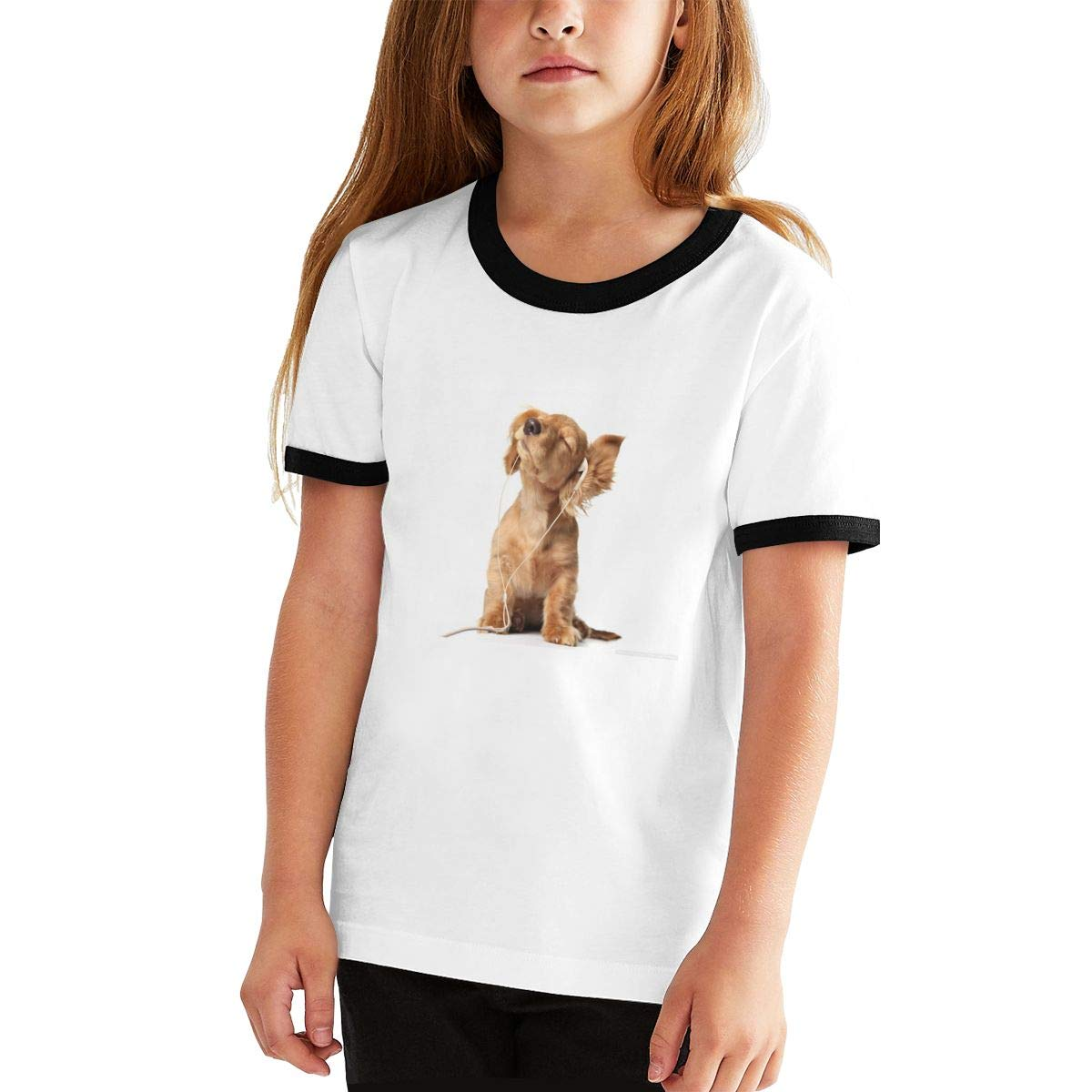 Youth Printed Boys Girls Cute Dogs Puppy Teens Short Sleeve T-Shirt Tees Shirts Tops Sport
