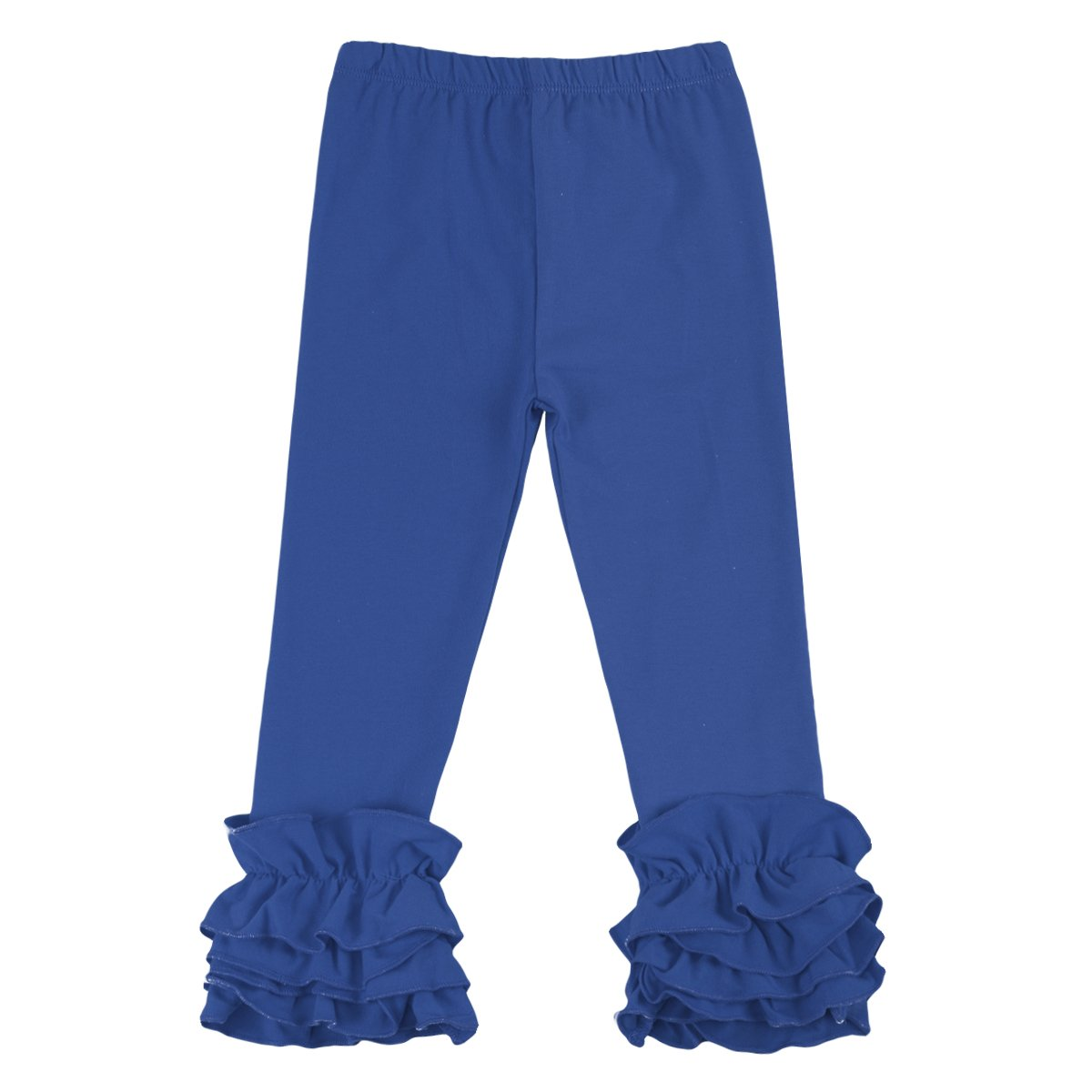 Little Girl's Double Icing Ruffle Leggings Pants Cotton Tights Active Trousers