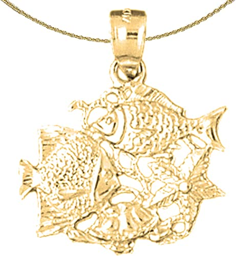 Jewels Obsession Starfish Necklace Rhodium-plated 925 Silver Starfish Pendant with 18 Necklace