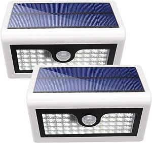 Solar Motion Sensor Security Light, SCOPOW 50 LED Weatherproof Solar Powered Wall Light Wireless Motion Sensor Security Lightwith Battery Operated and 3 Mode for Outdoor Garden Patio Path Pool (2)