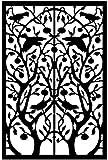 "Acurio Lattice Tree of Life Outdoor Decor Panel Screen, Black, 48 x 32 x 1/4"""
