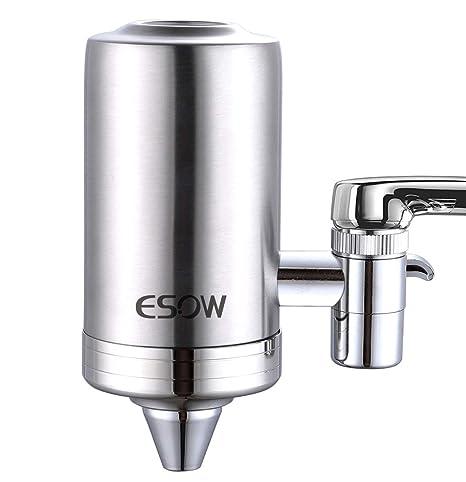 ESOW Filtro de agua para montura de grifo, SUS 304 acero ...