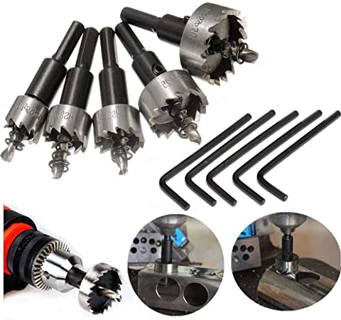 HSS Drill Bit Hole Saw Tooth Set Stainless Steel Metal Alloy Cutter 12 mm-100 mm