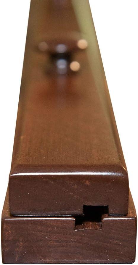 57 48-65 Inch Compression Type Quilt Rack Tapestry Rug Hanger Oak