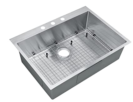 Starstar 30 Inch Top-mount / Drop In Stainless Steel Single Bowl Kitchen Sink 16  sc 1 st  Amazon.com & Starstar 30 Inch Top-mount / Drop In Stainless Steel Single Bowl ...