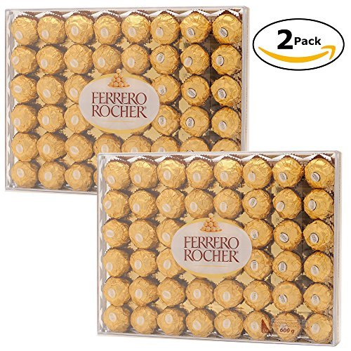 Large Product Image of Ferrero Rocher Hazelnut Chocolate 48 count (Bundle of 2 / 96ct Total)