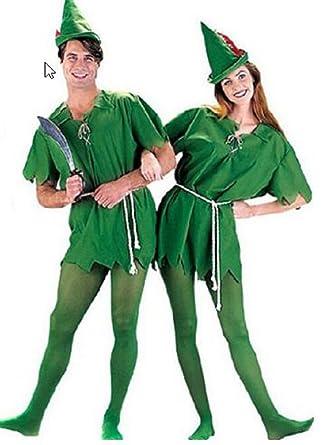 ピーターパン 衣装 (チュニック、ひもベルト、ハット) コスチューム 男女共用 フリーサイズ