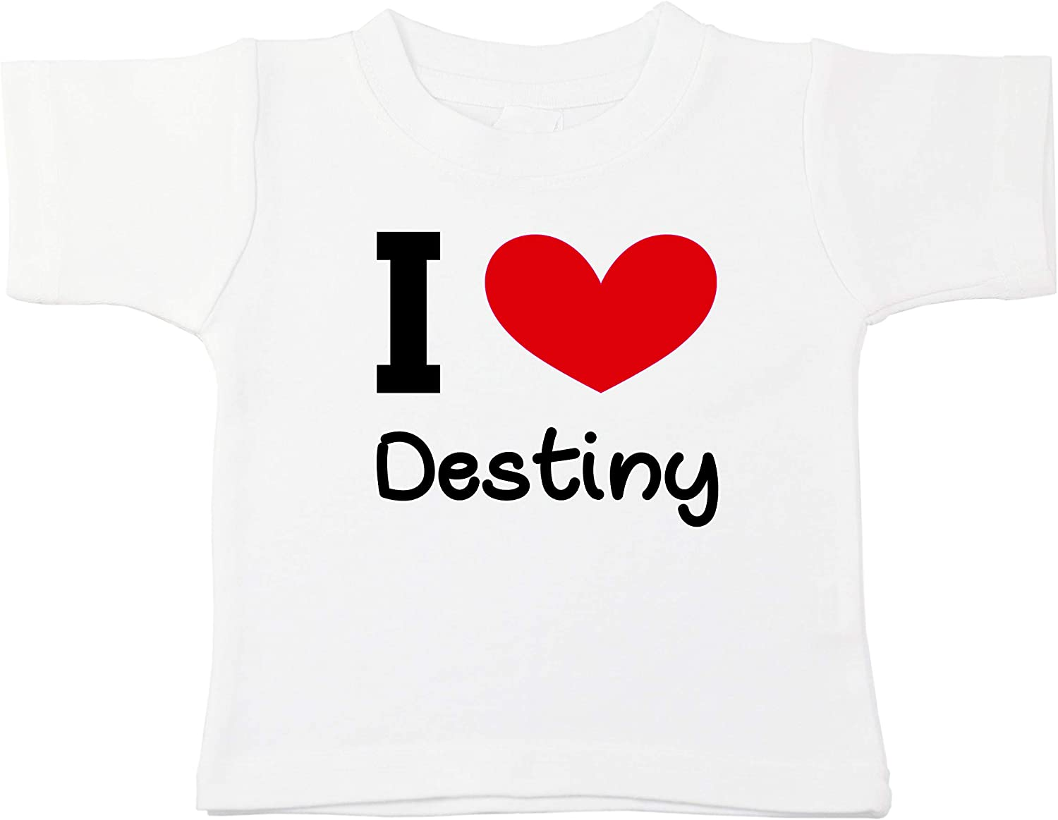 Kinacle I Love Destiny Personalized Baby//Toddler T-Shirt