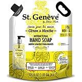 St. Geneve Jabon Liquido St Geneve Pouch Citron Menthe 4000ml, color, 103.68 ml, pack of/paquete de