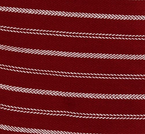"""Cuisinart Double Oven Mitt Glove/Moppine, Quilted Heat Resistant Kitchen Accessory, Twill Stripe, 35"""" x 7.5"""", Great for Cooking, Baking, and Handling Hot Pots & Pans- Red Dahlia by Cuisinart (Image #1)"""