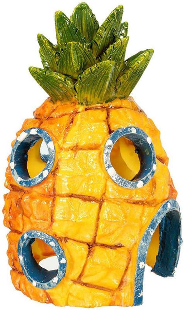 BUNRUN - Decorazione subacquea per acquario in resina, motivo: ananas