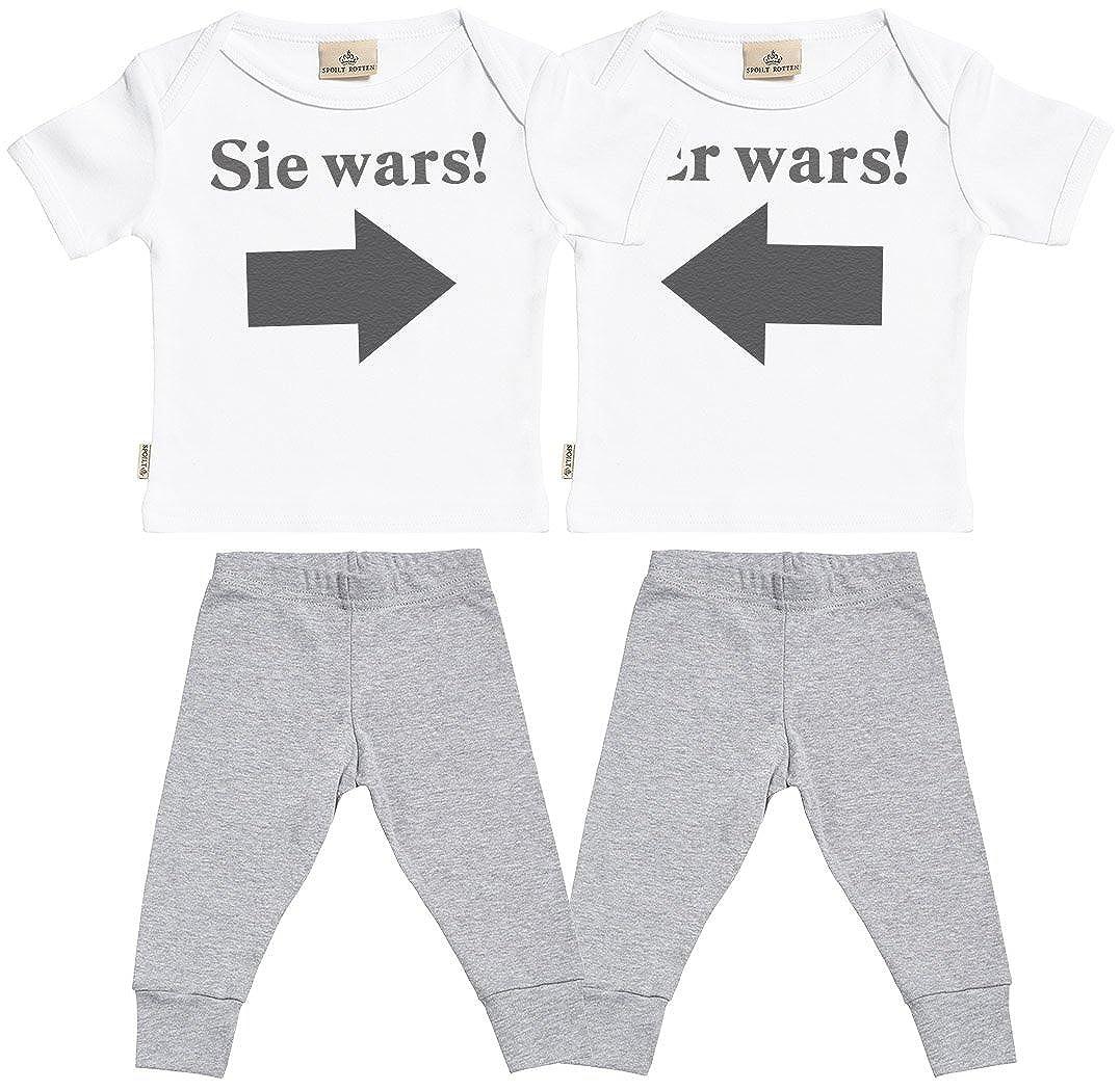 Sie Wars Baby Zwillinge Set Baby T-Shirt /& Schwarz Baby Jerseyhose Baby Zwillinge T Shirt /& Baby Zwillinge Hosen Baby Zwillinge Outfit SR Er Wars