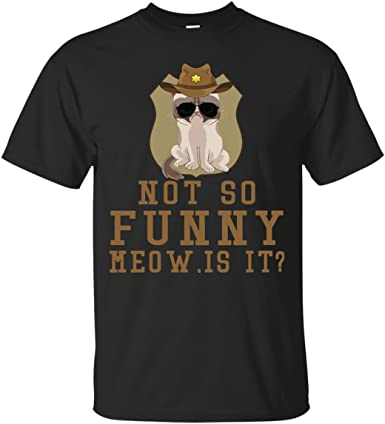 Not So Funny Meow Super State Trooper T Shirt