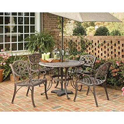amazon com home styles 5555 308 biscayne 5 piece outdoor dining rh amazon com biscayne patio table biscayne patio chairs
