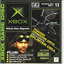 Official Microsoft Xbox Magazine December 2002 Demo Disc #13 w/ Panzer Dragoon Orta, Tom Clancy's Splinter Cell, Chase, Toe Jam & Earl III, House of the Dead III, and BloodRayne