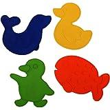 """REER Les antidérapants de baignoire ou de douche motifs """"animaux"""" accessoires de bain, multicolore"""