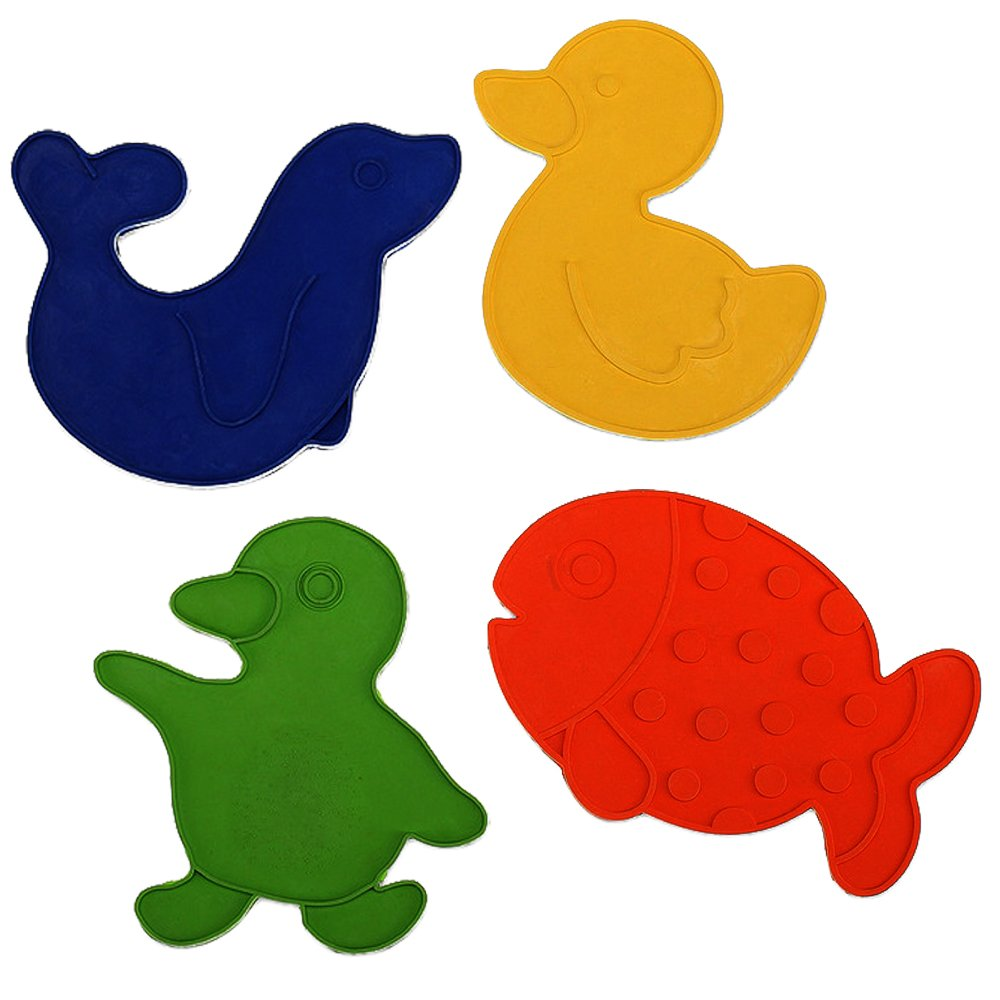 REER Les antidérapants de baignoire ou de douche motifs animaux accessoires de bain, multicolore 7615