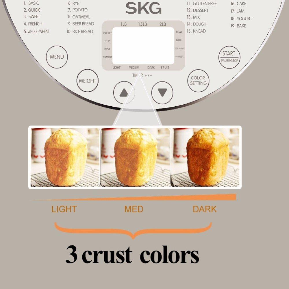 SKG Automatic Bread Machine 2LB - Beginner Friendly Programmable Bread Maker by SKG (Image #6)