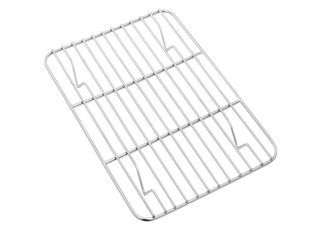 Toaster Oven Pan with Rack Set, P&P Chef Stainless Steel Broiler Pan with Cooling Rack, Mini Rectangle 9''x 7''x1'', Non Toxic & Heavy Duty, Mirror Finish & Dishwasher Safe by P&P Chef (Image #6)