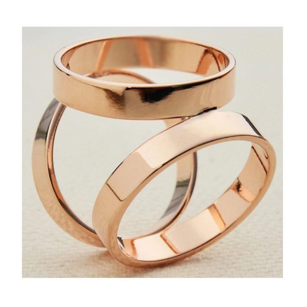 Maikun /Écharpe Bague moderne Design Simple Triple-ring /Écharpe Bague
