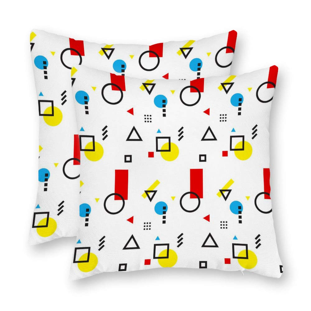 Amazon.com: DKISEE Set of 2 Abstract Bauhaus 2 Square Throw ...