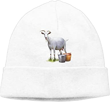 White Goat Head Winter Wool Cap Warm Beanies Knitted Hat