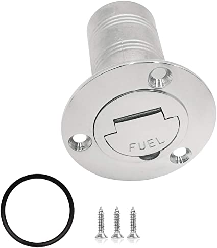 Polished 316 Stainless Steel Hardware for Boat Yacht Caravan 1-1//2 38mm ISURE MARINE Boat Fuel Deck Fill//Filler with Keyless Cap 1-1//2 Marine Mirror