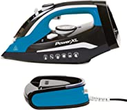 PowerXL Cordless Iron and Steamer, Lightweight Iron with Ceramic Soleplate, Vertical Steam, Anti-Calc, Anti-Drip, Auto-Off,