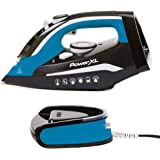 PowerXL Cordless Iron and Steamer Deluxe, Lightweight Dry Steam Iron with Ceramic Ion Soleplate, Vertical Steam, Anti-Calc, A