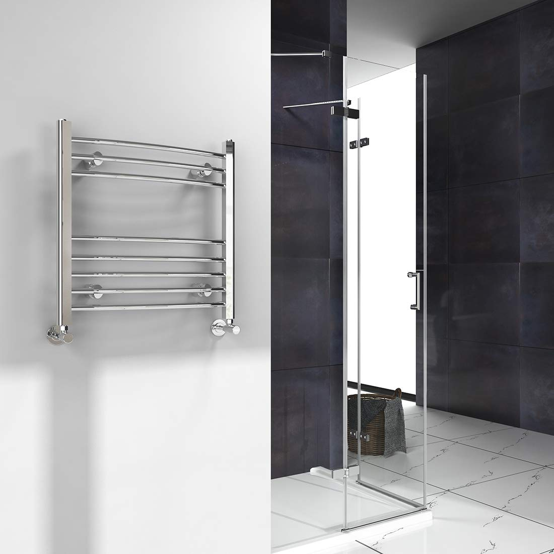 / Curved Heated Towel Rail Bathroom Radiators 1600x400 mm Chrome Towel Radiator/ Heater