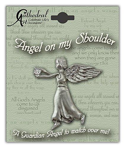 Cathedral Art BA304 April Crystal Birthstone Angel Pin, (April Birthstone Angel Pin)