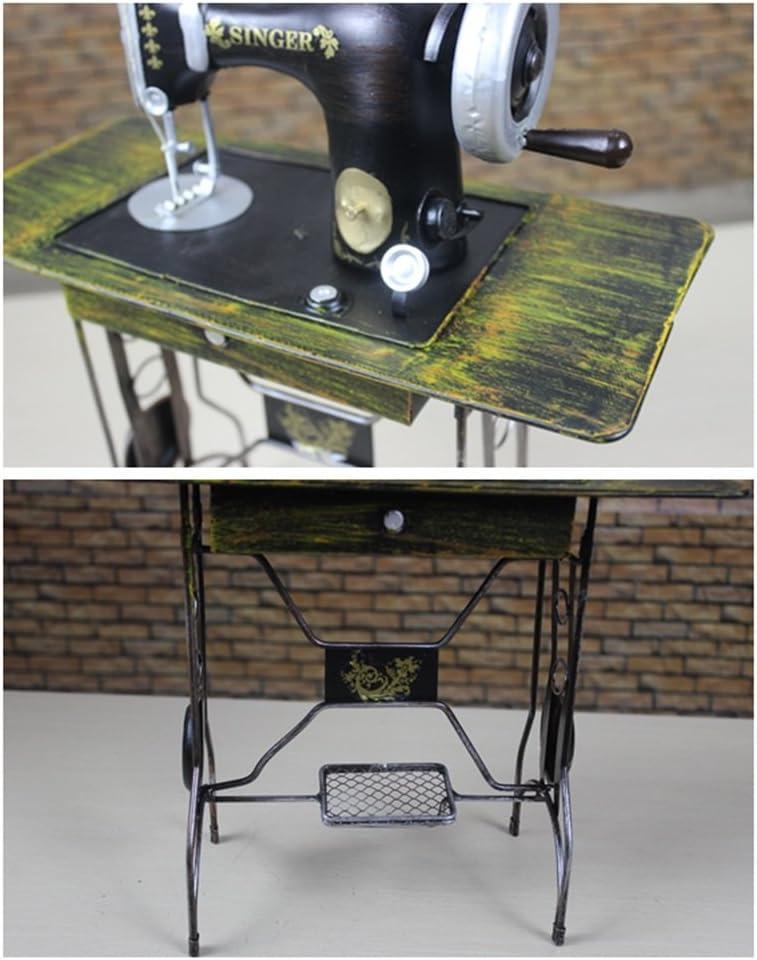 Luban Artesanía Creativa Vintage Máquina de Coser de Hierro Forjado Decoración de Modelo Decoración Accesorios de fotografía Joyería Aplicable a Tiendas de Ropa/Escaparates/Salas de exposición: Amazon.es: Hogar