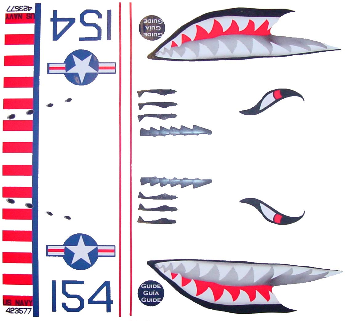 KA Mixer Cover Kit Flying Tiger Shark Plane Decal Sticker Red, White, Navy Blue, and Black, Designed to Fit All Kitchenaid Stand Mixers, Including Pro 600, and Artisan. Mixer Not Included. by FlameKA.com (Image #1)