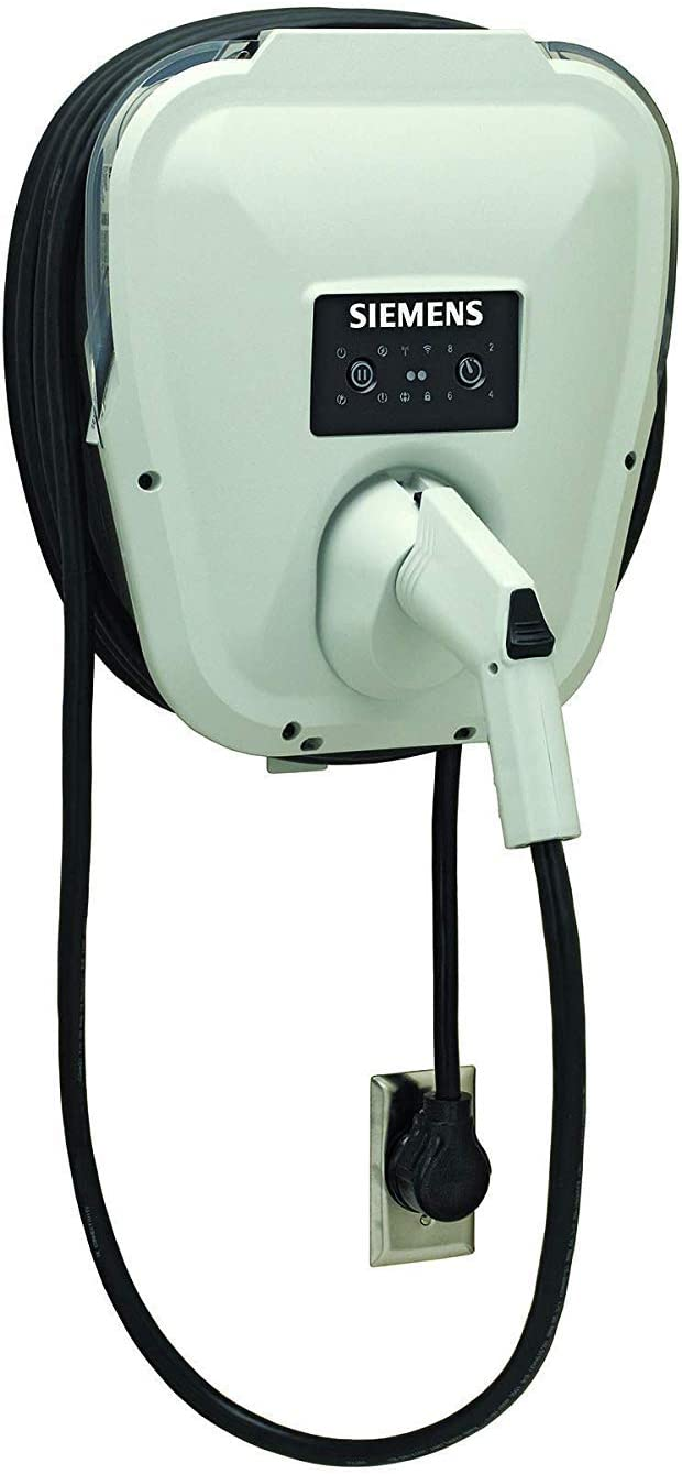 Siemens US2 VersiCharge Level-2 30A Fast Charging up-to 8Hrs Delay Charging UL Listed J1772 Compatibility 14ft Cable +2ft NEMA 14-50 14-30 10-50 10-30 6-50 6-30 L14-30 L6-30 Plug (NEMA 10-50)
