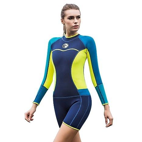JL-Q Traje de Buceo para Mujer 1.5 mm Protección UV Traje de ...