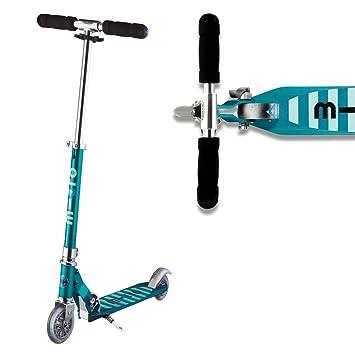 Micro Stripe Sprite Aqua Scooter Boys Girls 2 Wheeled Aluminium 5 To 12  Years