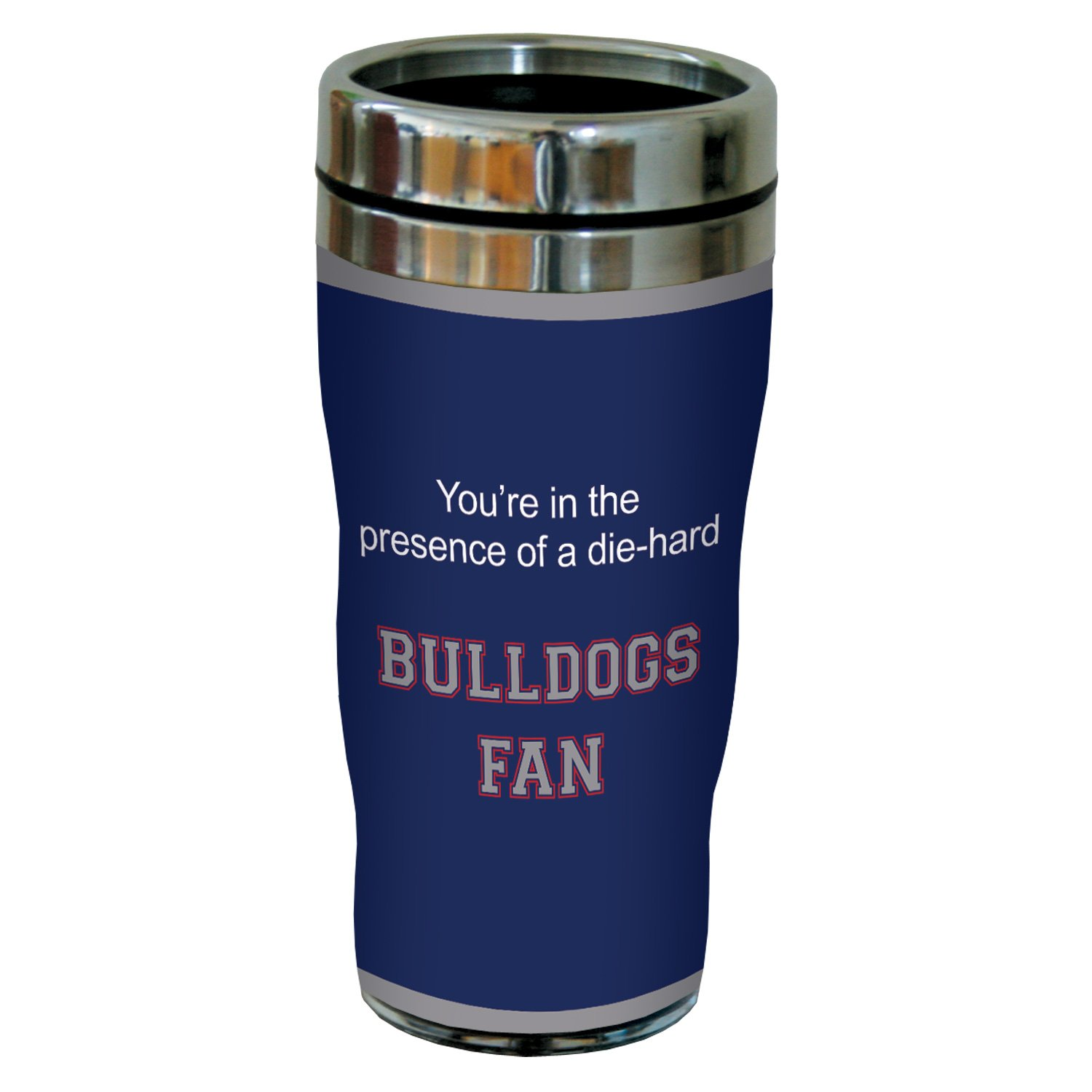 16 Ounce Tree-Free Greetings sg24869 Bulldogs College Basketball Sip N Go Stainless Steel Lined Travel Tumbler