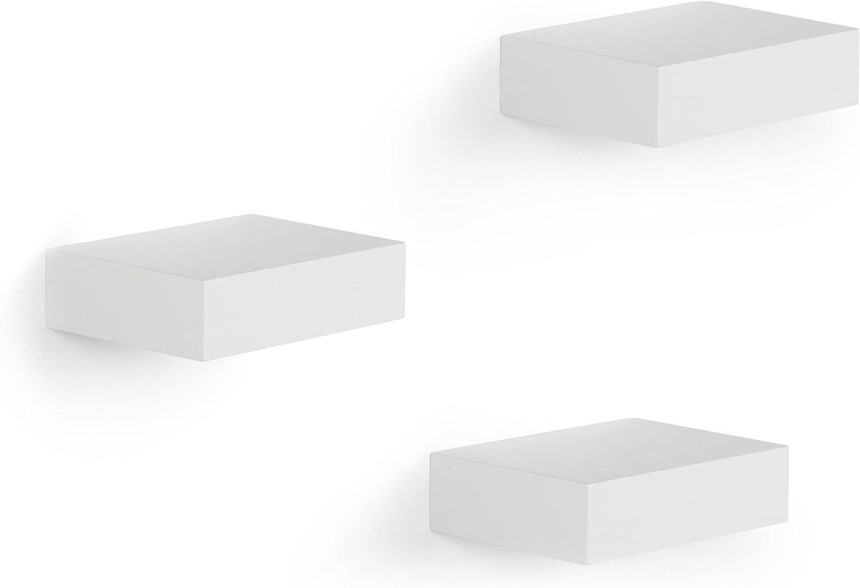 Umbra 325560-660 Showcase - Juego de 3 módulos de estantería, color blanco