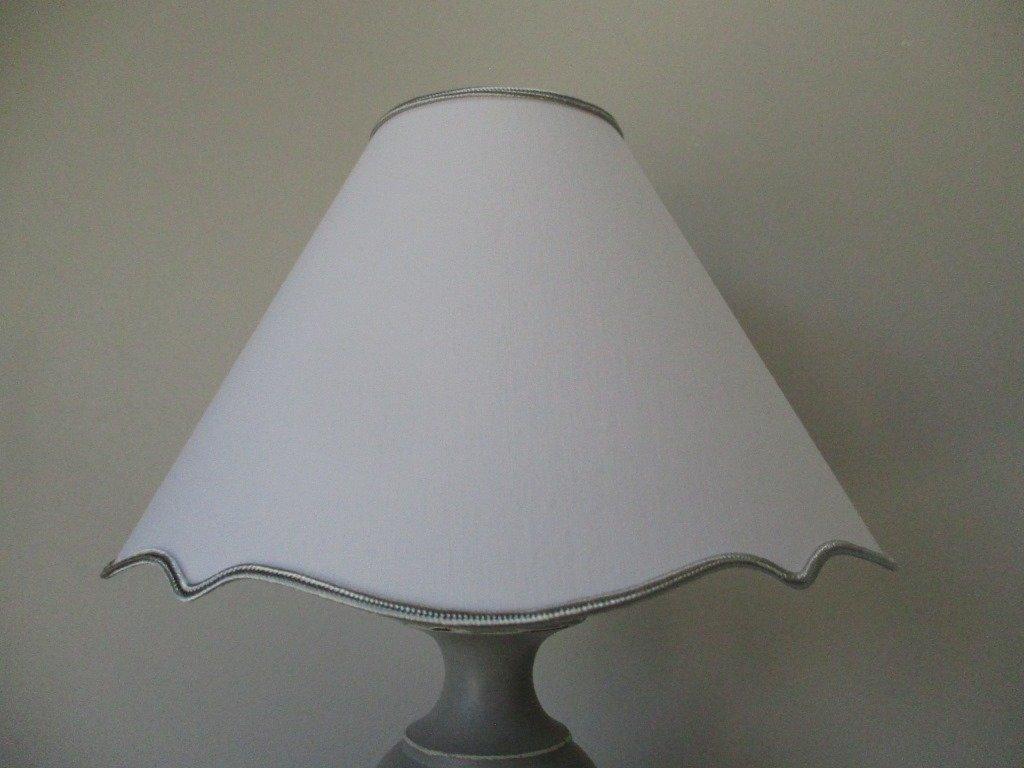 ABAT-JOUR CLIP A ACCOLADES DIAM. 20 CM - BLANC - POUR PETITE LAMPE