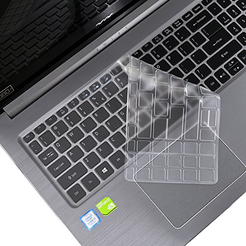 Folox Thin TPU Keyboard Protector Cover for Acer 15.6 Swift 3 Series Notebook PC